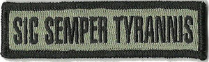 BuckUp Tactical Morale Patch Hook Sic Semper Tyrannis Morale Patches 3.75x1""