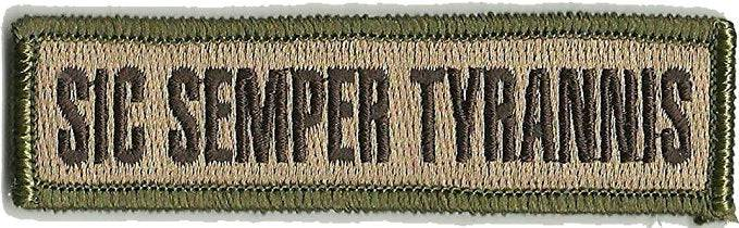 BuckUp Tactical Morale Patch Hook Sic Semper Tyrannis Morale Patches 3.75x1