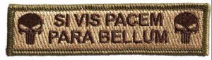 BuckUp Tactical Morale Patch Hook Si Vis Pacem Para Bellum Punisher 3.75x1""
