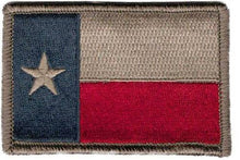 BuckUp Tactical Morale Patch Hook Texas Austin Houston Alamo State Patches 3x2""