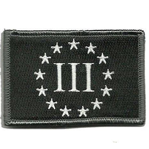 BuckUp Tactical Morale Patch Hook 3% Three Percenter Patches 3x2""