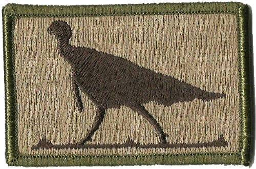 BuckUp Tactical Morale Patch Hook Turkey Wildlife Hunting Patches 3x2