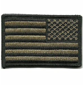 BuckUp Tactical Morale Patch Hook USA US Flag Reversed Facing Patches 3x2""