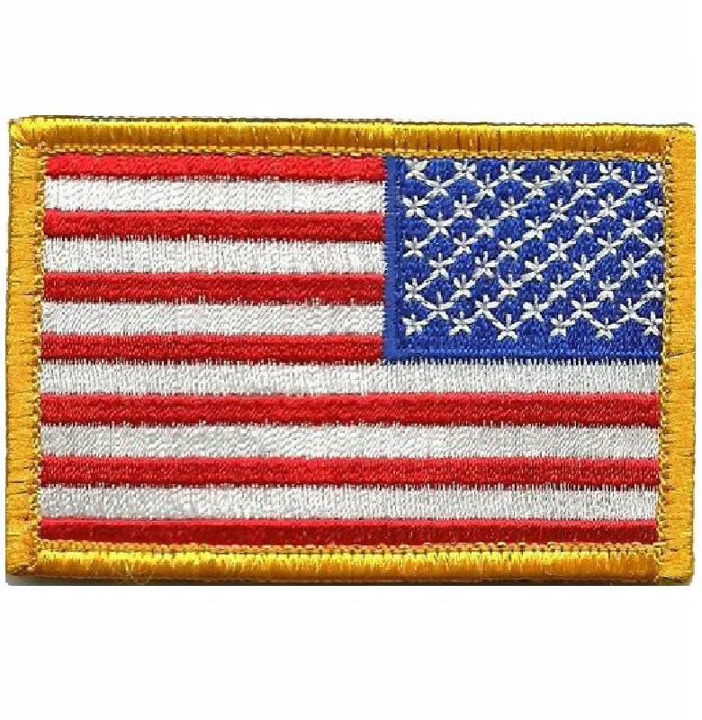 BuckUp Tactical Morale Patch Hook USA US Flag Reversed Facing Patches 3x2