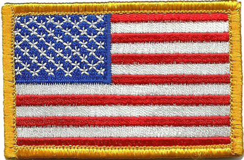 BuckUp Tactical Morale Patch HookUSA US Flag Forward Facing Patches 3x2