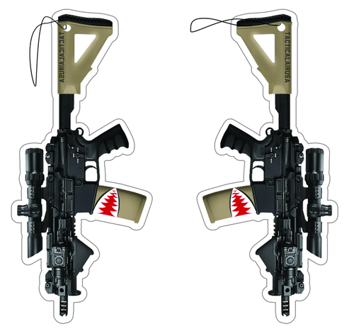 TACTICAL TAN AND BLACK M4 SBR SHARK AIR FRESHENER