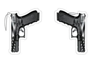 G17 BLACK & GREY AMERICAN FLAG PISTOL AIR FRESHENER