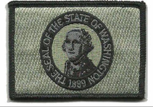 BuckUp Tactical Morale Patch Hook Washington Olympia State Patches 3x2""