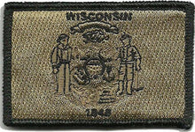 BuckUp Tactical Morale Patch Hook Wisconsin Madison State Patches 3x2""