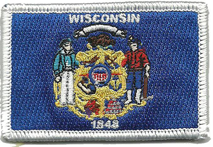 BuckUp Tactical Morale Patch Hook Wisconsin Madison State Patches 3x2