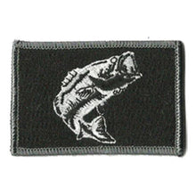 BuckUp Tactical Morale Patch Hook Fishing Bass Wildlife Patches 3x2""