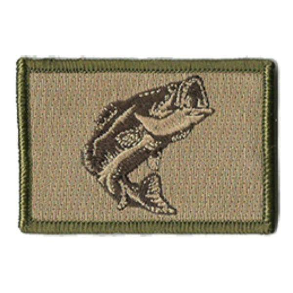 BuckUp Tactical Morale Patch Hook Fishing Bass Wildlife Patches 3x2