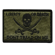 BuckUp Tactical Morale Patch Hook Calico Jack LOD DTOM Patches 3x2""