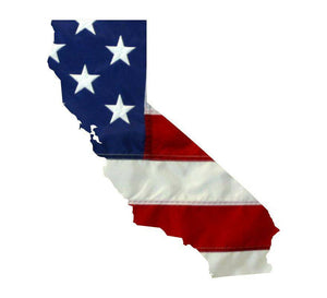 State of California Realistic American Flag Window Decal - Various Sizes