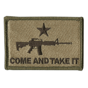 BuckUp Tactical Morale Patch Hook M16 M-16 Come And Take It Patches 3x2""