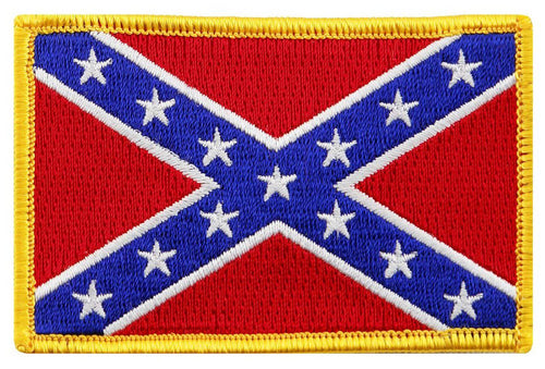 BuckUp Tactical Morale Patch Hook Confederate Flag 3x2