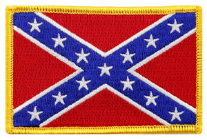 "BuckUp Tactical Morale Patch Hook Confederate Flag 3x2"" Sized Patches"