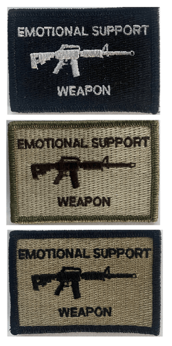 BuckUp Tactical Morale Patch Hook M4 M-4 Emotional Support Weapon Patches 3x2