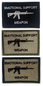 BuckUp Tactical Morale Patch Hook M4 M-4 Emotional Support Weapon Patches 3x2""