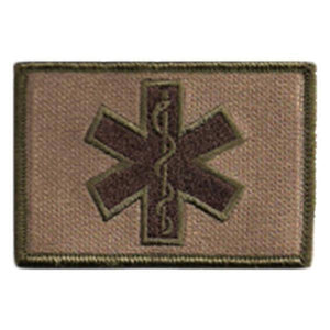 BuckUp Tactical Morale Patch Hook Medic EMT Patches 2x3""