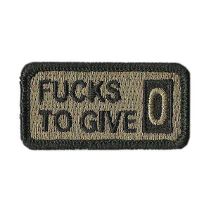 BuckUp Tactical Morale Patch Hook Fucks fuck TO GIVE F Word funny Patches 2x1""