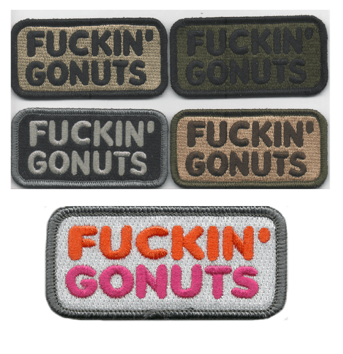 BuckUp Tactical Morale Patch Hook Fuckin Gonuts Patches 1.5x3