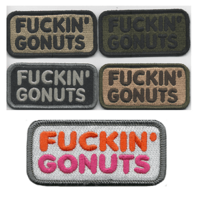BuckUp Tactical Morale Patch Hook Fuckin Gonuts Patches 1.5x3""
