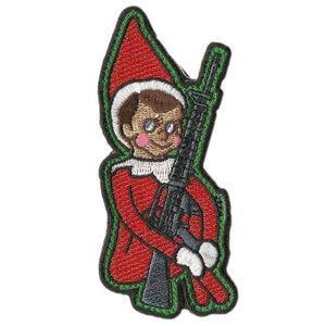 BuckUp Tactical Morale Patch Hook elf on the shelf 3.5' sized cutout Sized morale funny Patch