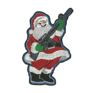 BuckUp Tactical Morale Patch Hook santa rifle 3.5' sized cutout Sized morale funny Patch