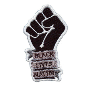 "black lives matter 3"" cutout fist die cut patch"