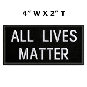 "All Lives Matter 4x2"" Hook Fastener patch"