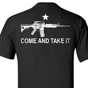 BLACK ASSAULT RIFLE COME AND TAKE IT T-SHIRT S M L XL 2XL 3XL 4XL 5XL