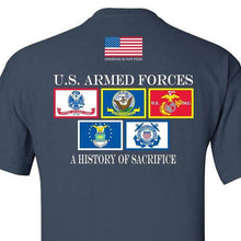 HISTORY OF SACRIFICE NAVY BLUE T-SHIRT S M L XL 2XL 3XL 4XL 5XL