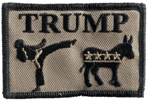 Buckup Tactical Donald trump kicking ass 3x2 patch