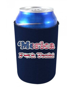 'MERICA F YEAH FUNNY CAN COOLIE - Navy Blue