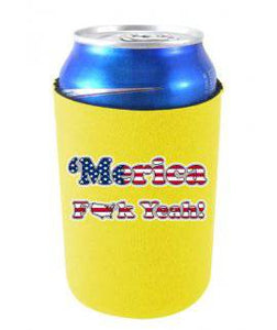 ''MERICA F YEAH FUNNY CAN COOLIE - Yellow