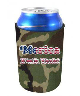 ''MERICA F YEAH FUNNY CAN COOLIE - Camo