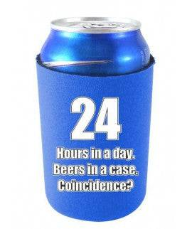 24 HOURS IN A DAY BEERS IN A CASE FUNNY CAN COOLIE - Royal Blue