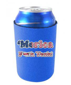 ''MERICA F YEAH FUNNY CAN COOLIE - Royal Blue