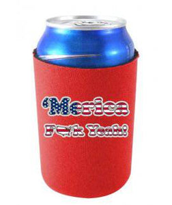 MERICA F YEAH FUNNY CAN COOLIE -Red