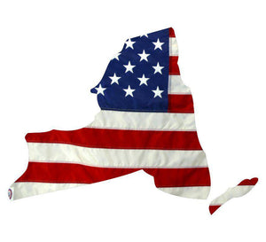 State of New York Realistic American Flag Window Decal - Various Sizes