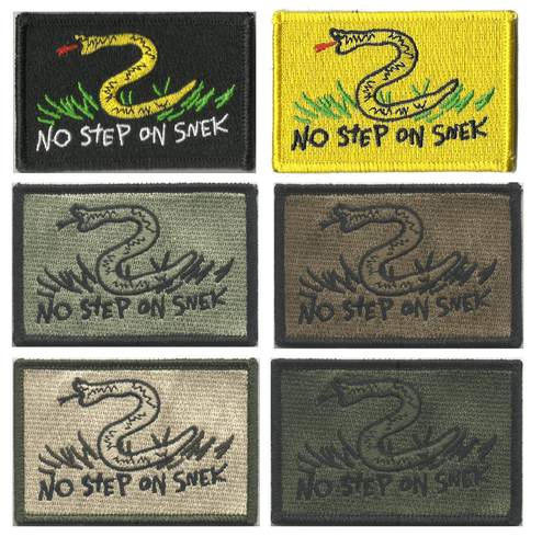 BuckUp Tactical Morale Patch Hook NO STEP ON SNEK - 2