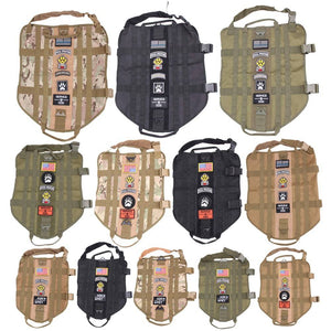 Police K9 Tactical Military 1000D Nylon Molle System Dog Training Dog Harness Hunting Vest Clothes Load Bearing Harness M-XL