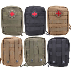 Waterproof Nylon Tactical Molle System Waist Bag Outdoor Sports Medical Military First Aid Sling Pouch  Emergency Bag