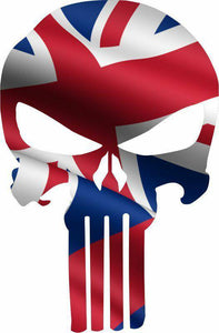 Punisher Skull Hawaii Flag Window Decal Sticker Graphic - Multiple Sizes