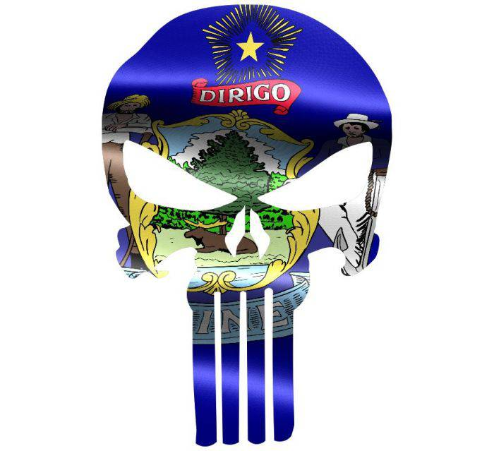 Punisher Skull Michigan Flag Window Decal Sticker Graphic - Multiple Sizes