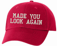 MADE YOU LOOK AGAIN MAGA Embroidered Adjustable/Flex/WH Donald Trump MAGA Hat