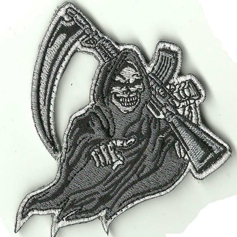VELCRO® Brand Hook Backing Grim Reaper Rifle Funny Morale 3