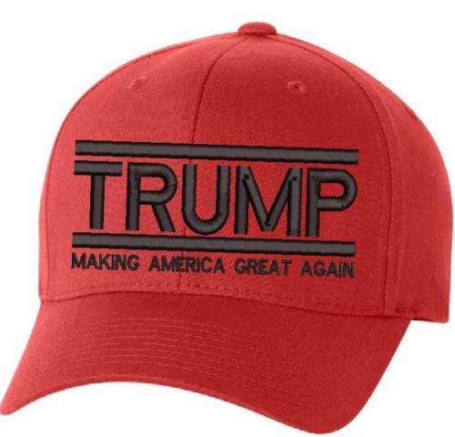 Make America Great Again Hat - Donald Trump MAGA FLEX FIT Red S/M or L/XL Sizes
