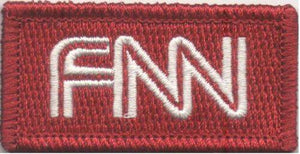 "BuckUp Tactical Morale Patch Hook CNN FNN Fake News Network 2x1"" Sized morale funny Patch"